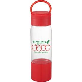 Monogrammed Color Band Tritan Sports Bottle