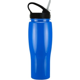 Personalized Contour Bike Bottle with Sport Sip Lid