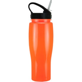 Contour Bike Bottle with Sport Sip Lid Imprinted with Your Logo