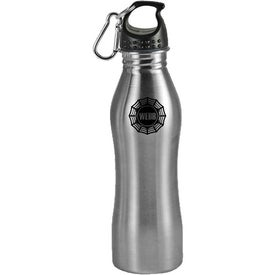 Contour Stainless Steel Sports Bottle with Your Slogan