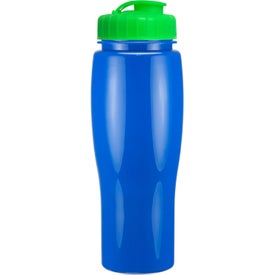 Printed Opaque Contour Bottle With Flip Top Lid