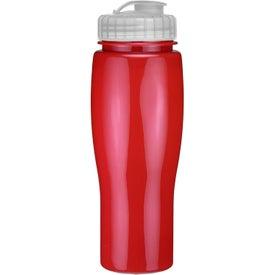 Opaque Contour Bottle With Flip Top Lid for Advertising