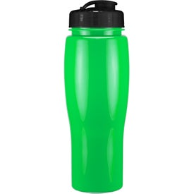 Imprinted Opaque Contour Bottle With Flip Top Lid