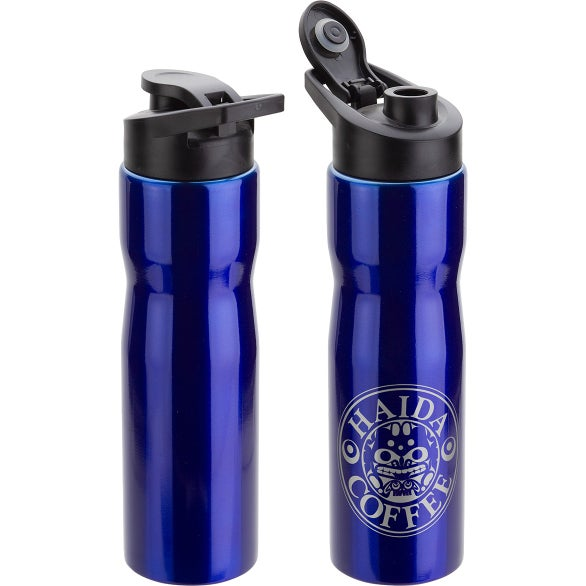 Blue Crescent Stainless Steel Bottle