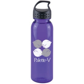 Printed Poly-Pure Bottle with Crest Lid