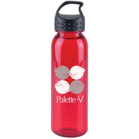 Monogrammed Poly-Pure Bottle with Crest Lid