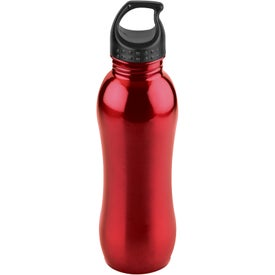 Logo Curvaceous Stainless Bottle