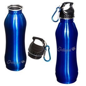 Personalized Curvy Stainless Bottle
