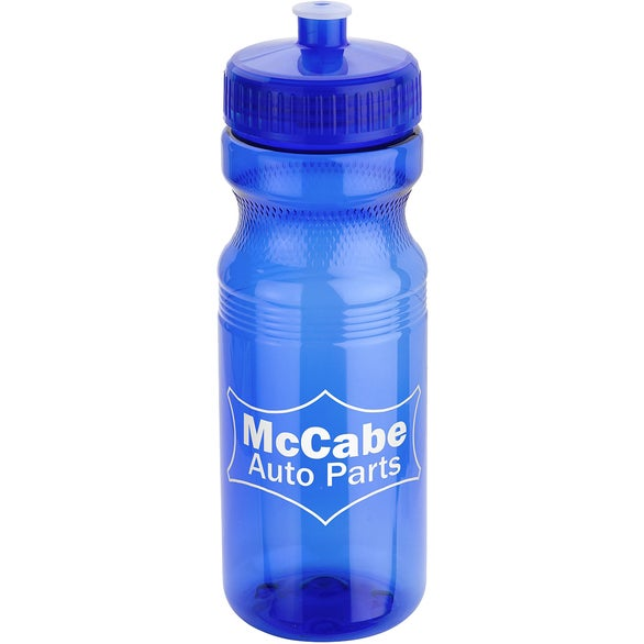 Blue Cycler Bottle with Push-Pull Lid