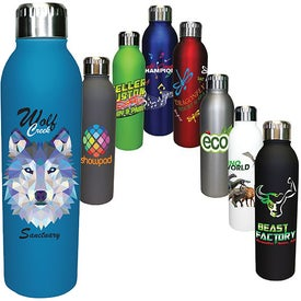Deluxe Halcyon Water Bottles (17 Oz., Full Color Logo)