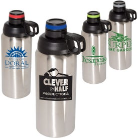 Double Wall Stainless Steel Vacuum Bottle (33 Oz.)