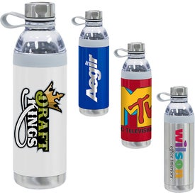 Dual Opening Stainless Steel Water Bottle (20 Oz.)
