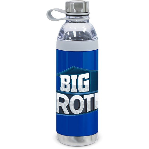 Blue Dual Opening Stainless Steel Water Bottle