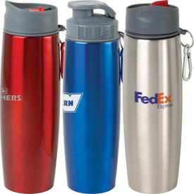 Personalized Duo Insulated Tumbler/Water Bottle with Clip