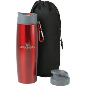 Promotional Duo Insulated Tumbler/Water Bottle with Clip