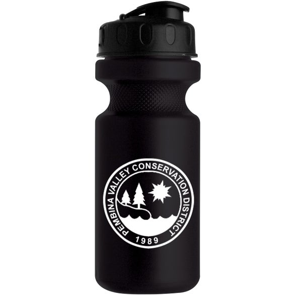 Black Eco-Cycle Bottle with Flip Top Lid