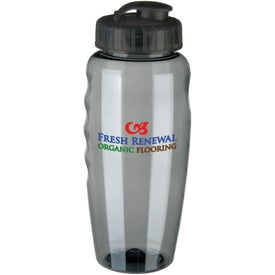 Gripper Poly Clear Bottle Printed with Your Logo