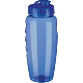 Printed Gripper Poly Clear Bottle