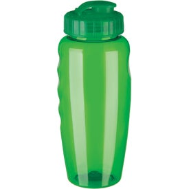 Advertising Gripper Poly Clear Bottle