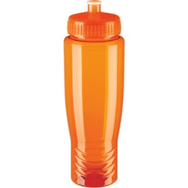 Logo Eco Poly Clear Bottle