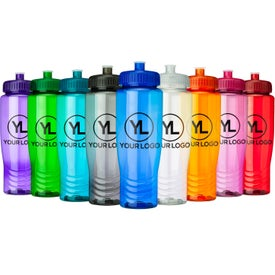 Eco Poly Clear Bottle Branded with Your Logo