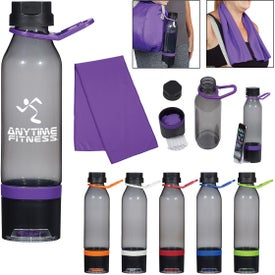 Energy Sports Bottle with Phone Holder and Cooling Towel