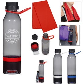 Energy Sports Bottles with Phone Holder and Cooling Towel (15 Oz.)