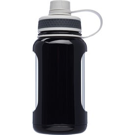 Exhibition Glass Water Bottle with Silicone Sleeve (22 Oz.)