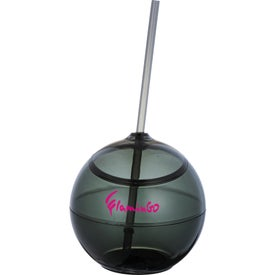 Fiesta Ball with Straw Imprinted with Your Logo