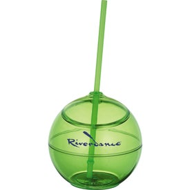 Promotional Fiesta Ball with Straw