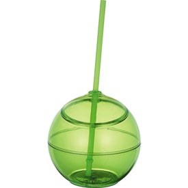 Fiesta Ball with Straw for Marketing