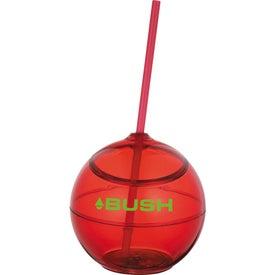 Logo Fiesta Ball with Straw