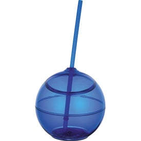 Advertising Fiesta Ball with Straw