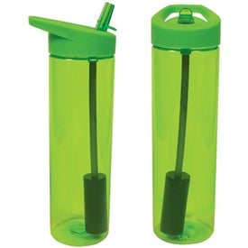 Advertising MS Filter Bottle with Flip Straw