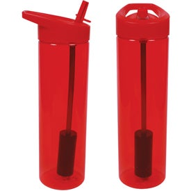MS Filter Bottle with Flip Straw for Promotion