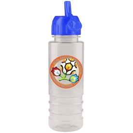 Monogrammed Flip Straw Salute Bottle, Full Color