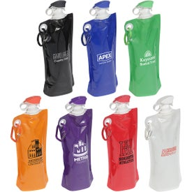 Flip Top Folding Water Bottle (27 Oz.)