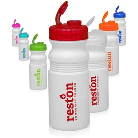 Flip Top Plastic Bike Water Bottle (20 Oz.)
