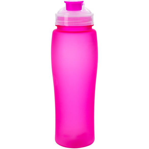 Fluorescent bottle with flip top 23 oz personalized water bottles