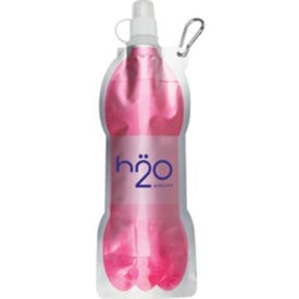 Fold Flat Water Bottle with Carabiner for Customization