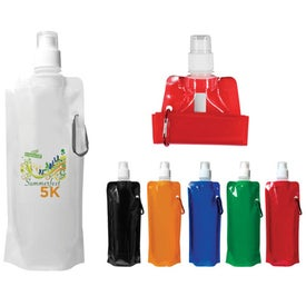 Folding Water Bottle (16 Oz.) (Digitally Printed)
