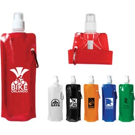 Folding Water Bottle Imprinted with Your Logo