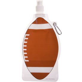 HydroPouch! Football Collapsible Water Bottle for Promotion