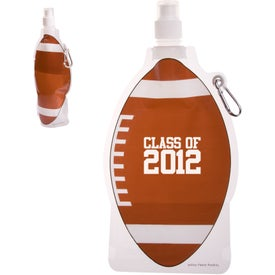 Branded HydroPouch! Football Collapsible Water Bottle