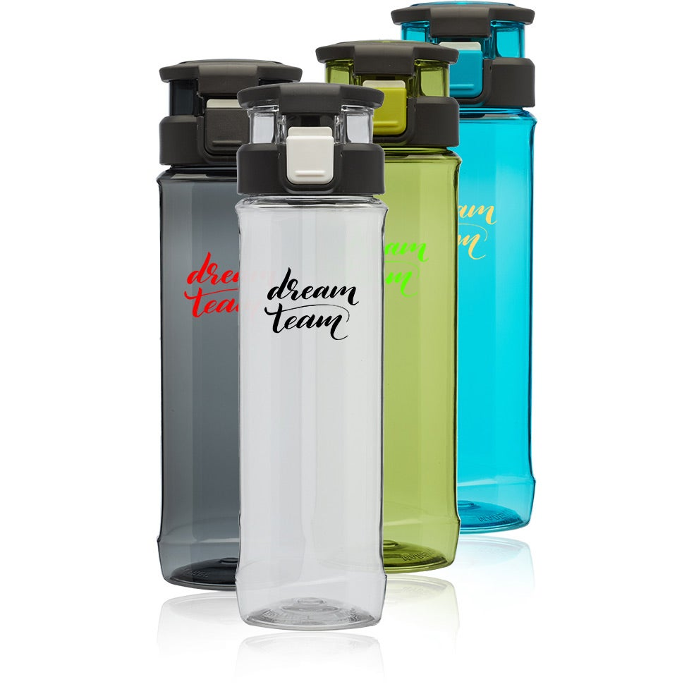 Gaia Plastic Water Bottle with Flip Lid and Handle (24 Oz.)