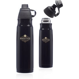 Giza Stainless Steel Water Bottle with Plastic Lid (25 Oz.)