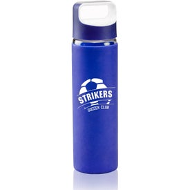 Glass Water Bottle with Silicone Sleeve (18 Oz.)