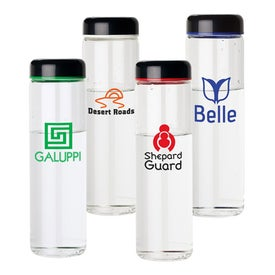Glass Water Bottle with Screw Off Lid