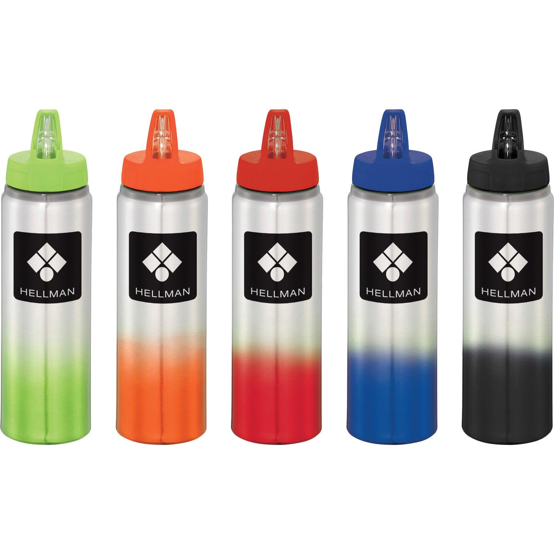 promotional 25 oz gradient aluminum sports bottles with custom logo for 3 19 ea