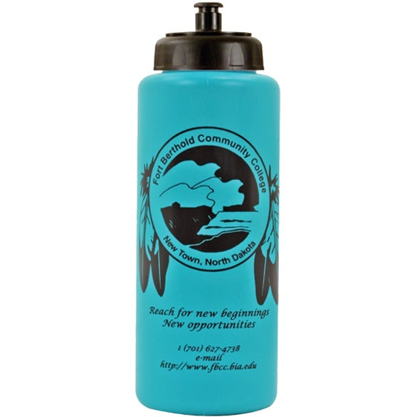 Teal Grip Bottle with Push 'n Pull Cap